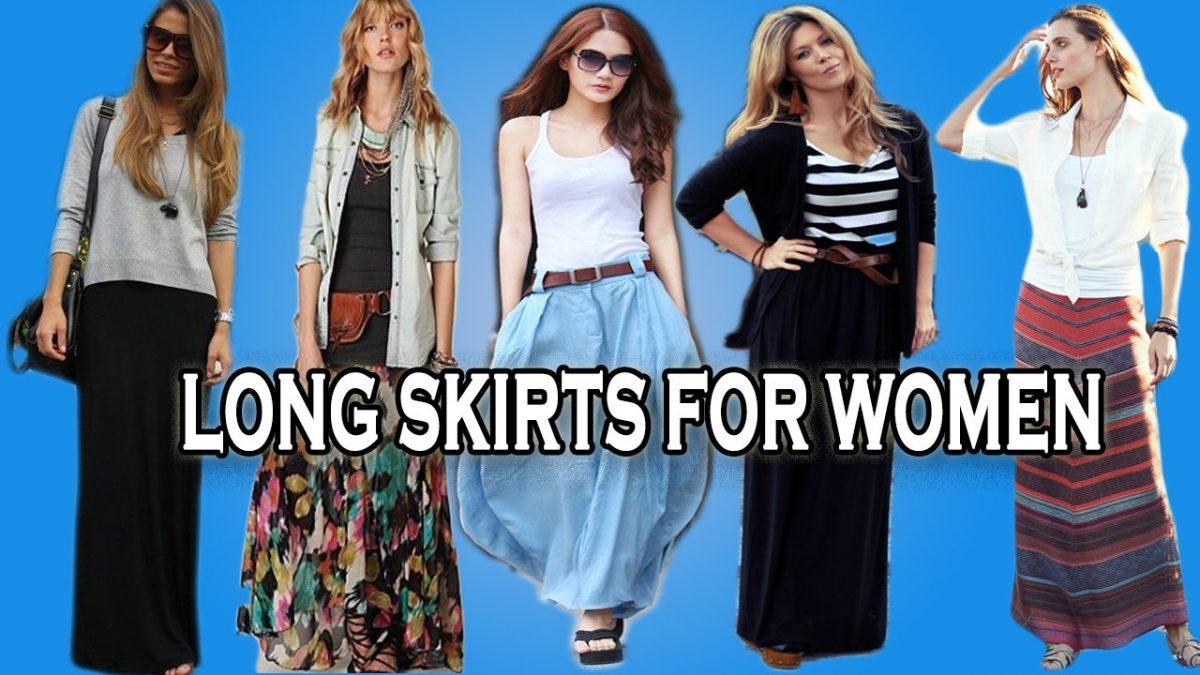Tout en portant une jupe longue